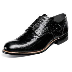 Stacy Adams Men's Madison Plain Toe Oxford - Black Anaconda