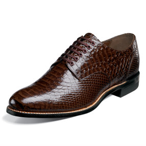 Stacy Adams Men's Madison Plain Toe Oxford - Brown Anaconda