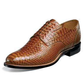 Stacy Adams Men's Madison Plain Toe Oxford - Tan Anaconda