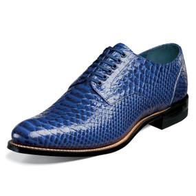 Stacy Adams Men's Madison Plain Toe Oxford - Blue Anaconda