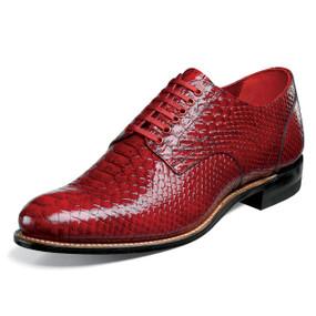 Stacy Adams Men's Madison Plain Toe Oxford - Red Anaconda
