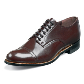 Stacy Adams Men's Madison Cap Toe Oxford - Burgundy