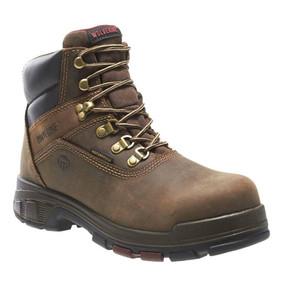 Wolverine Men's Cabor EPX 6 Inch WP Work Boot - Dark Brown