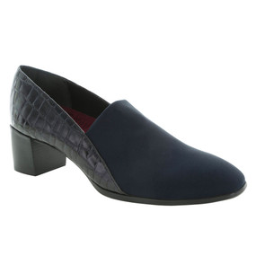 Munro Women's Billee - Navy Fabric / Navy Croco Patent