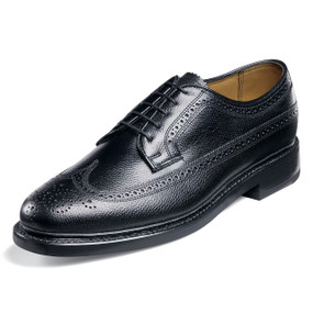 Florsheim Men's Kenmoor (Wing Tip Brogue) - Black Pebble Grain
