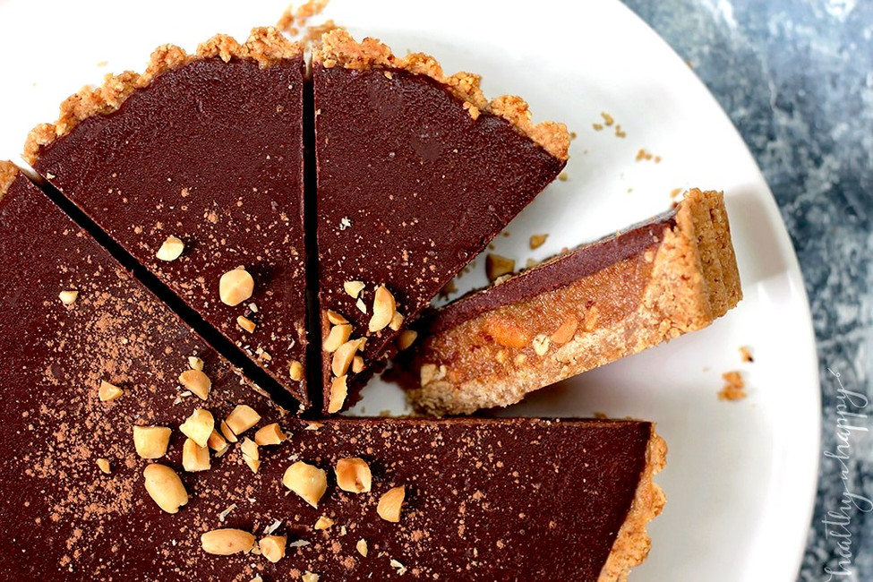Salted Caramel Snickers Tart