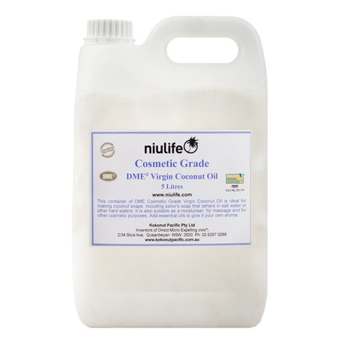 Certified Organic Cosmetic Grade - Virgin Coconut Oil - 5L Jerry Can