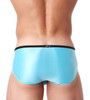Rear view of sky blue Voyeur brief by Gregg Homme