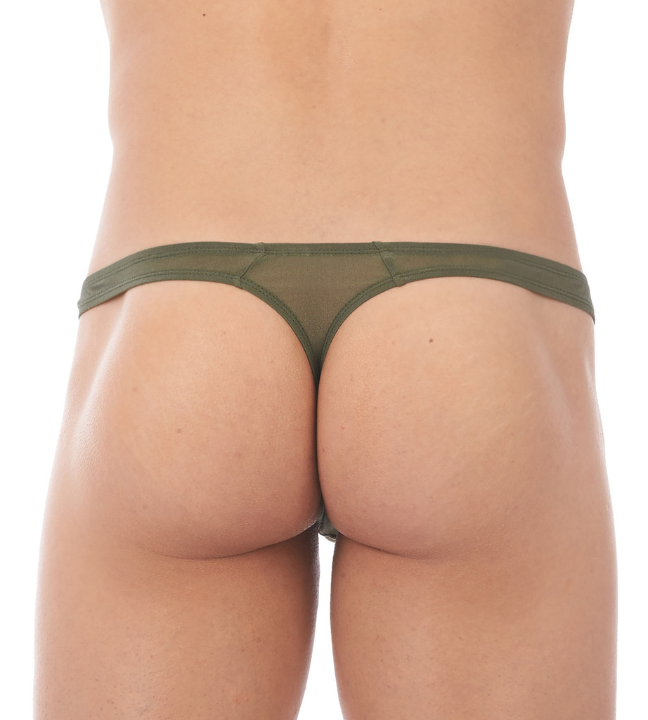 Rear view of khaki Torrid thong by Gregg Homme
