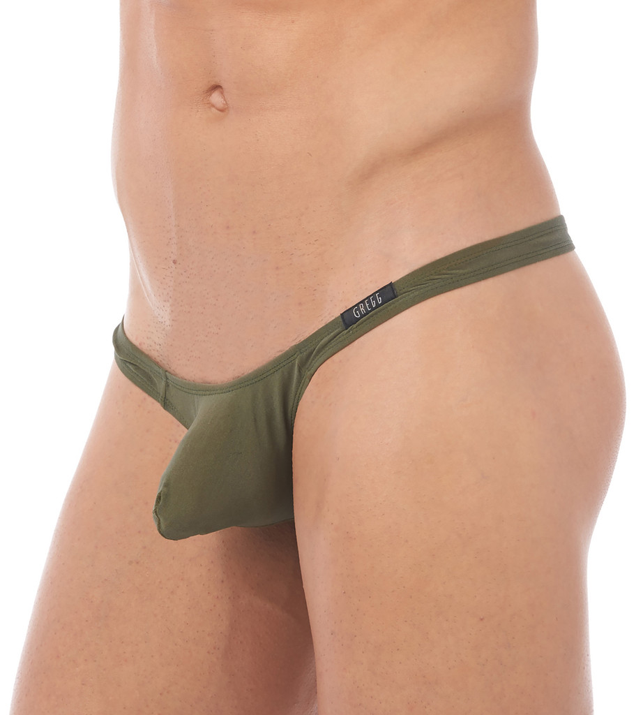 Side view of khaki Torrid thong by Gregg Homme