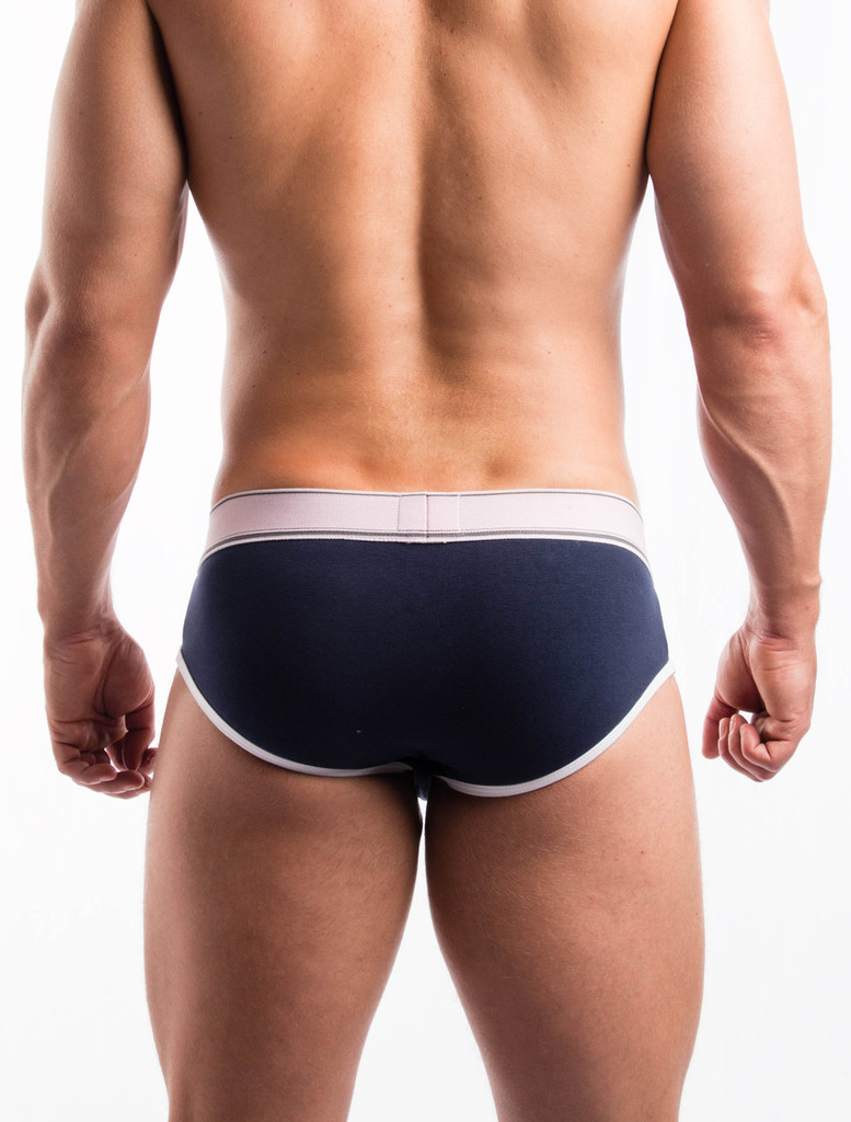 Men's Briefs - Rear view of navy Sports Day Brief by FIT-IN1