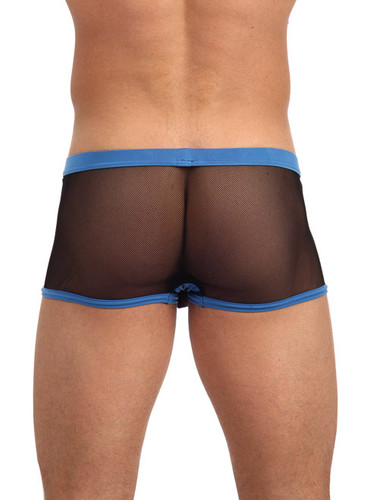 Men's Underwear - Rear view of royal blue X-Rated Maximizer Boxer Brief by Gregg Homme