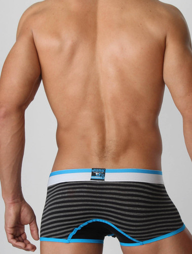 Men's underwear trunk - Rear view of marine blue Heist trunk by Junk Underjeans