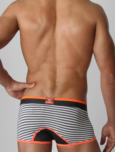 Men's underwear trunk - Rear view of florange Heist trunk by Junk Underjeans