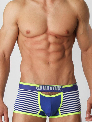 Men's underwear trunk - Front view of royal blue Heist trunk by Junk Underjeans