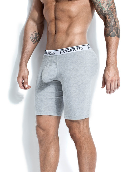 Men's active underwear - Front view of grey Core Cycle Trunk from Jack Adams USA
