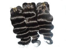 Brazilian 100% Human Hair Deep Wave Weave Natural Black (3 pieces) 300g