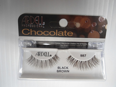 Ardell Chocolate Strip Lashes 887 Black/Brown (Pack of 6)