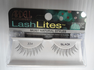 Ardell Lashlites False Eyelashes 334 Black (Pack of 4) Easy 3 Steps