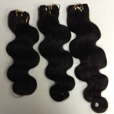 "3pcs Bundle 14"" 16"" 18"" Brazilian Human Hair Wefts Wavy"