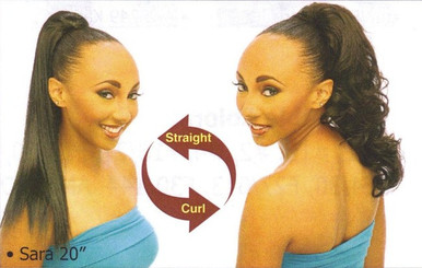 "20"" Synthetic Hair Drawstring Ponytail - Sara"