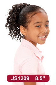 """8"""" Synthetic Hair Drawstring Ponytail Kids Spiral Hairpiece #209"""