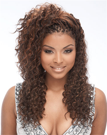 "18"" Human Hair Premium Blend Deep Wave Bulk for Braiding + Colors"