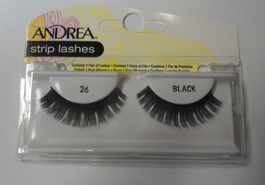Andrea Fashion Strip Lashes Eyelash Style 26 Black (Pack of 4)