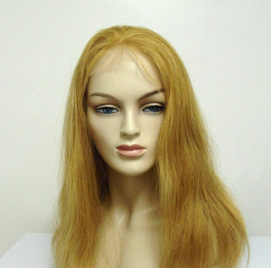 "14"" Full Lace Wig Remy Human Hair Straight #27/613 Blonde  Mix Large Cap"