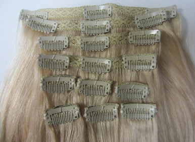 Clip in Remy Human Hair Extensions 10pc 100g with Lace
