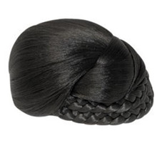 Synthetic Hair Bun Hairpiece - Dome, One Side Braid 5""