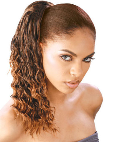 Synthetic Hair Drawstring Ponytail - TWIN CURL