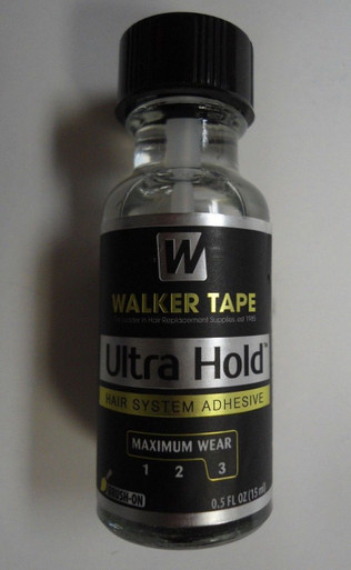 Ultra Hold Glue for Lace Wigs and Toupees with Brush Size 1/2 Oz