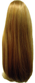 """Short Straight 10"""" Claw Clip & Drawstring Ponytail Hairpiece Color 24B/27C"""