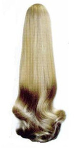 """Long Straight 19"""" Clip Drawstring Ponytail Hairpiece Reversible DM46"""