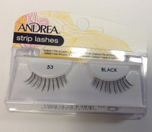 Andrea Fashion Strip Lashes Eyelash Style 53 Black (Pack of 6)