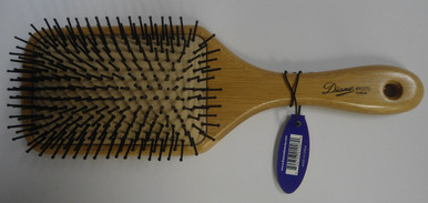Diane by Fromm 13 Row Cushion Paddle Bamboo Hair Brush D9570
