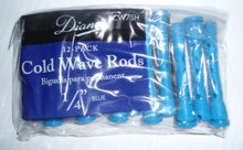 "Diane 1/4"" Cold Wave Rods Curlers Hair Perm #DCW7SH 12-Pack Blue, Short"