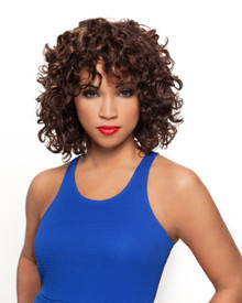 "Sapphire Human Hair Short Cut Bohemian Curls 8 "" 3 -Pieces Wefts"