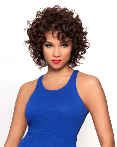 "Sapphire Human Hair Short Cut French Curls 8"" 3-Pieces Wefts"