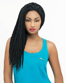 Carefree Lace Front Wig Micro Senegal Braid Style MartaLF