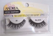Andrea Fashion Strip Lash Eyelash Style 28 Black (Pack of 6)