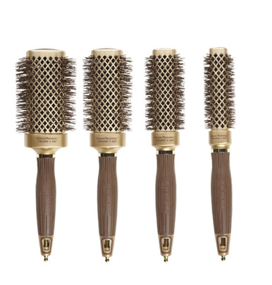 Olivia Garden Nanothermic Thermal Square 4pc Brushes NT-S50 NT-S40 NT-S30 NT-20