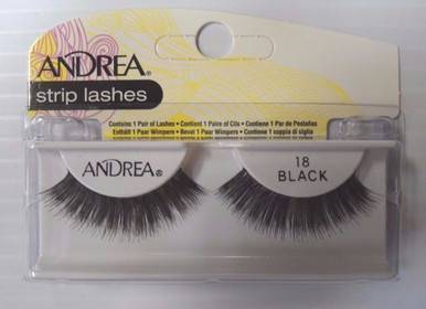 Andrea Fashion Strip Lashes Eyelash Style 18 Black (Pack of 6)