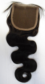 "Brazilian Human Hair 4x4 Free Part 10"" Lace Closure Wavy"