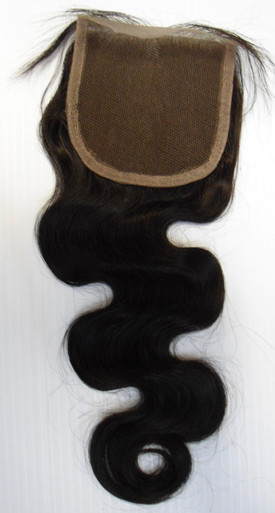 "Alexxis Brazilian Human Hair 4x4 Free Part 14"" Lace Closure Wavy"