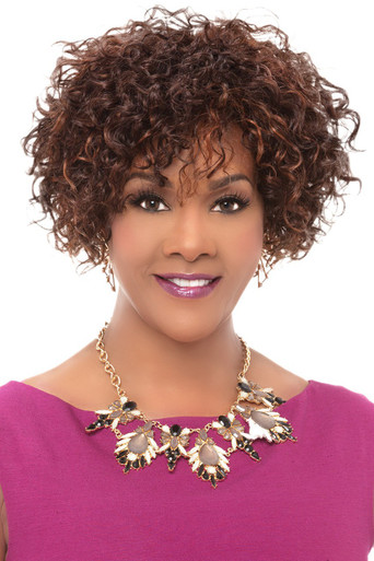 Vivica A Fox Premium Human Hair Whitney Pure Stretch Cap Full Wig