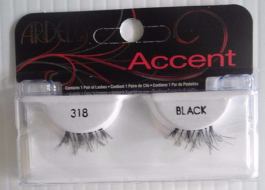 Ardell Strip Lashes Fashion Accent 318 Black (Pack of 4)