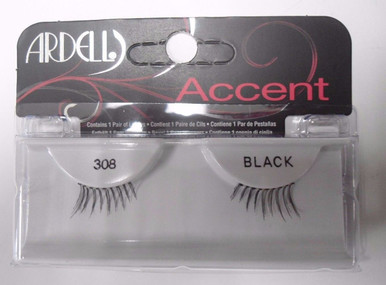 Ardell Strip Lashes Accent 308 Black (Pack of 4)