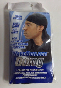 Wavebuilder Durag Extra Long Tails Color Black #192